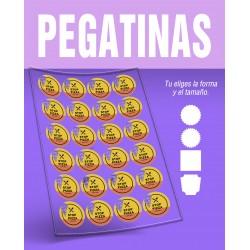 PEGATINAS ADHESIVAS DE FONDO TRANSPARENTE