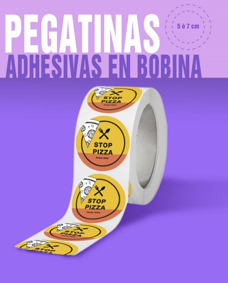 Pegatinas EN BOBINA 5x5 cm