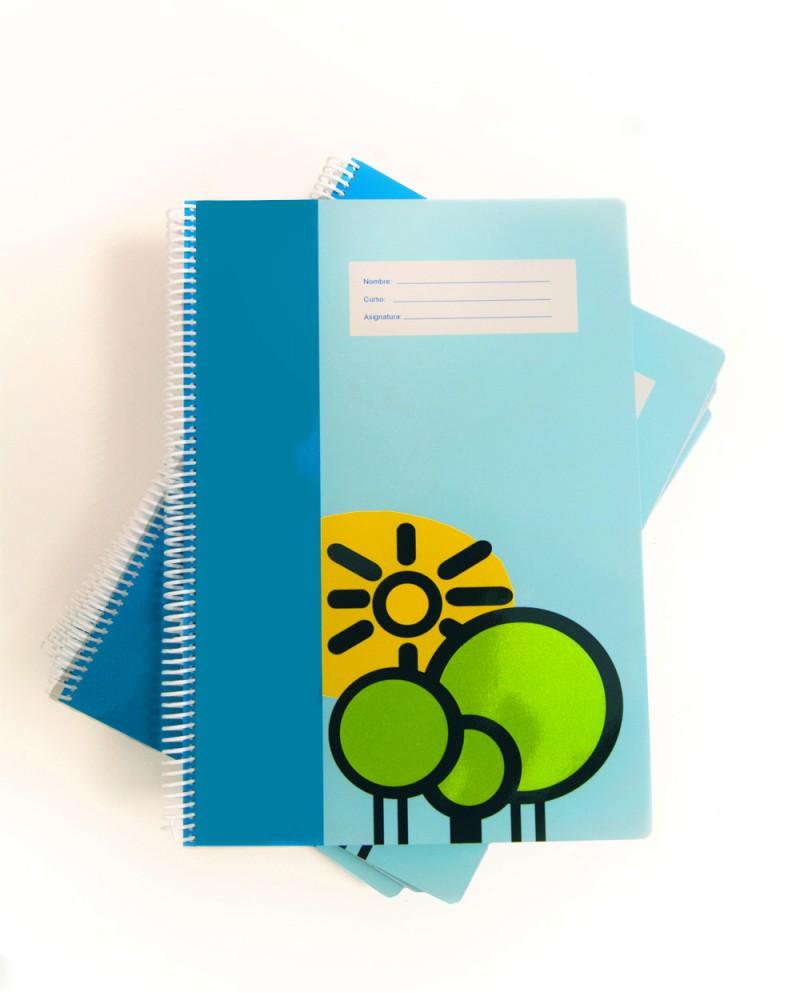 Cuaderno escolar personalizado
