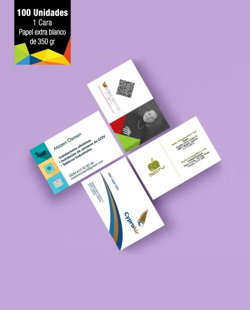 Tarjetas de Visita con papel Premium