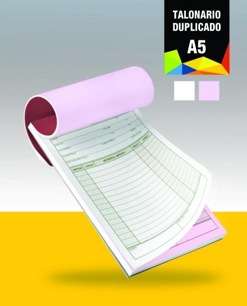 BLOC AUTOCOPIATIVO A5 original + 1 copia