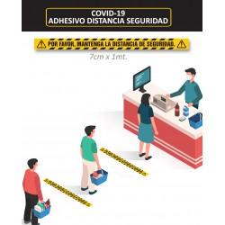 """Pack 10und VINILO ADHESIVO SUELO """"DISTANCIA DE SEGURIDAD"""""""